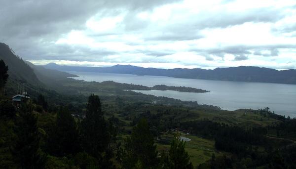 a view to Lake Toba from the top of Samosir Island (photo: joko guntoro)