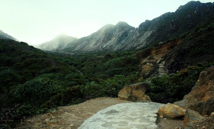 Trail to the top of Mt. Sibayak. (photo credit: joko guntoro)