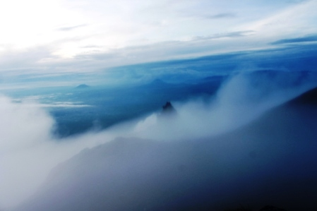 Top of Mt. Sinabung (photo: joko guntoro)